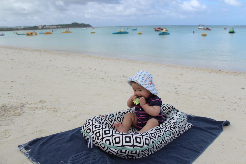 グアム 赤ちゃん 海 海遊び ビーチ ベビー 子供連れ 子連れ