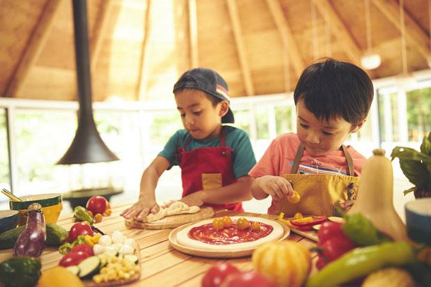 星野リゾート リゾナーレ那須 子連れ 食育体験 ピザ
