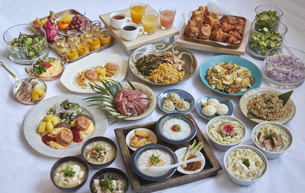 レクー沖縄北谷スパ&リゾート 朝食 ビュッフェ ゴーヤーチャンプルー ソーキそば 沖縄料理