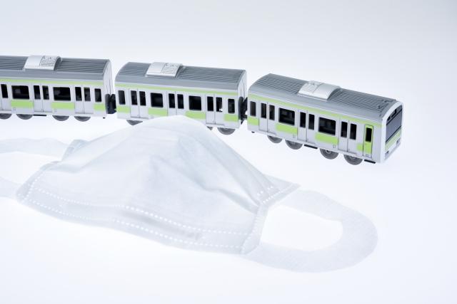 電車 マスク 新しい生活様式