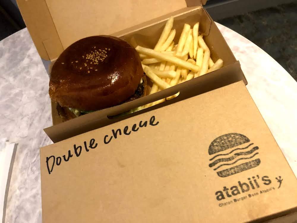 沖縄 北谷 美浜アメリカンビレッジ ハンバーガー テイクアウト atabii's