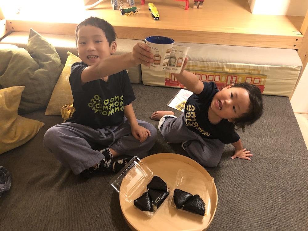 星野リゾート OMO5 東京大塚 都電 荒川線 子連れ旅行 子連れ 近場 赤ちゃん テイクアウト おにぎり ぼんご