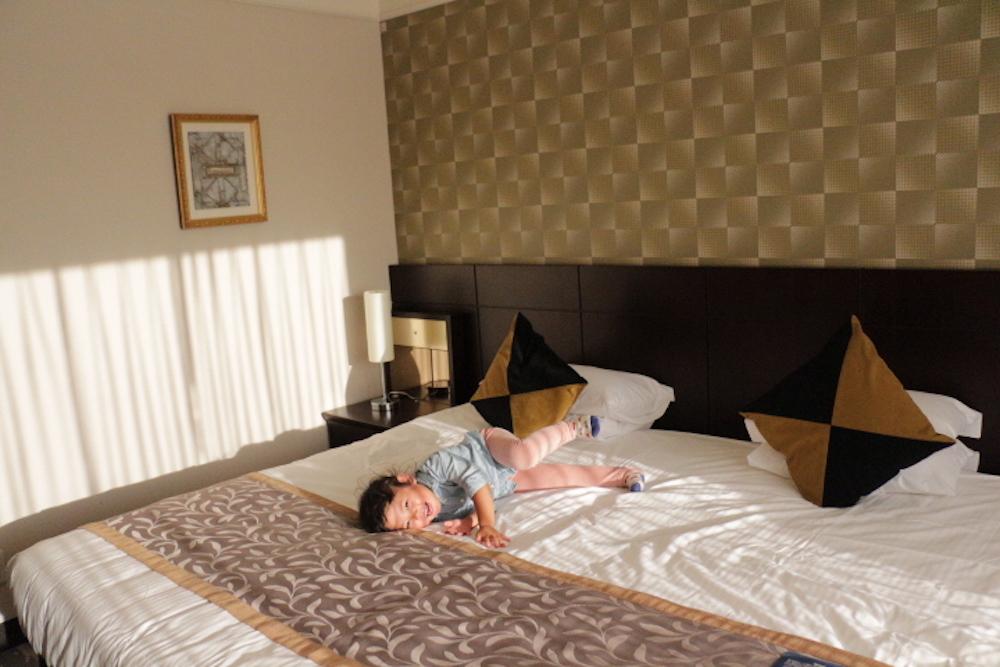 水天宮 水天宮前 お宮参り 赤ちゃん 安産祈願 戌の日 ロイヤルパークホテル 赤ちゃん連れ 子供連れ ホテル 客室 スタンダードツイン 添い寝 赤ちゃん ツイン
