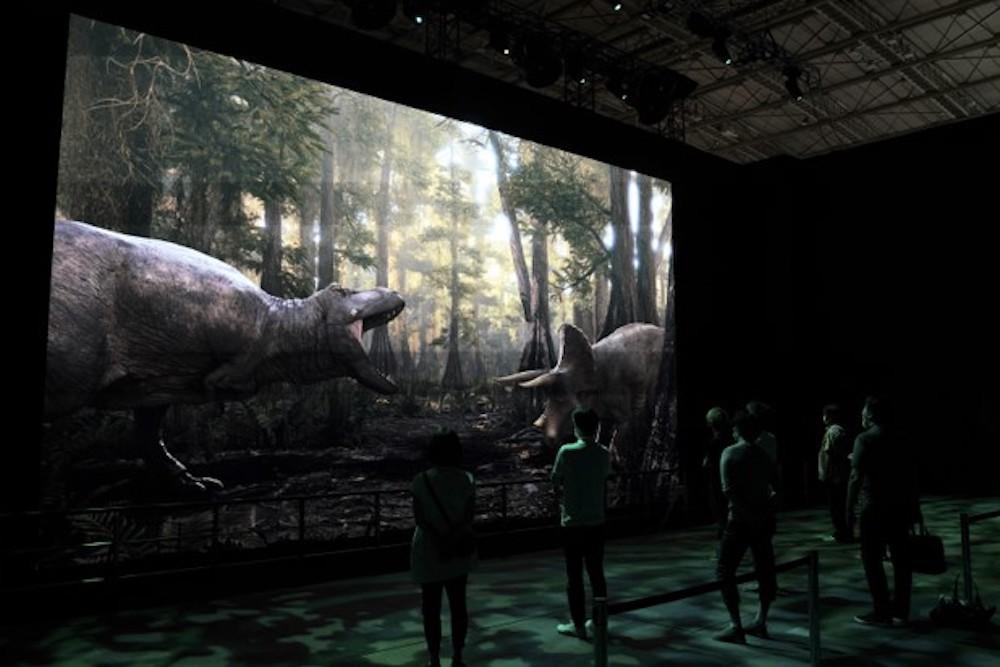 DinoScience 恐竜科学博 ソニー ララミディア大陸 恐竜展 みなとみらい パシフィコ横浜 トリケラトプス CG