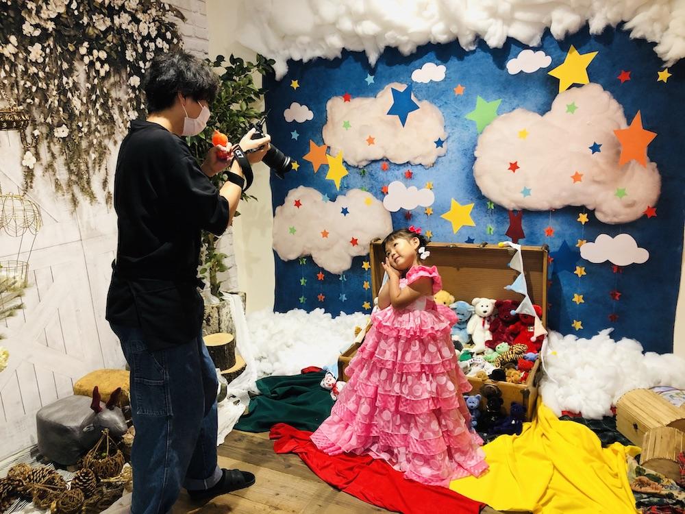七五三 3歳 3歳の七五三 初めての七五三 七五三撮影 七五三撮影スタジオ 撮影スタジオ LOVST LOVSTたまプラーザ店 ラブスト 東京の撮影スタジオ 着物 ジルスチュアート ドレス