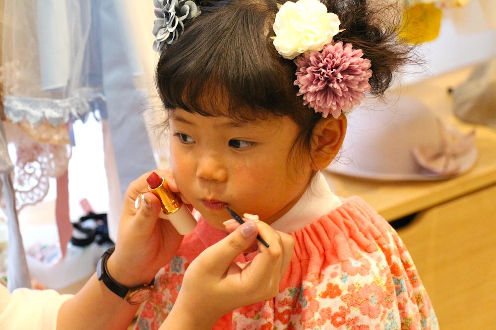 七五三 3歳 3歳の七五三 初めての七五三 七五三撮影 七五三撮影スタジオ 撮影スタジオ LOVST LOVSTたまプラーザ店 ラブスト 東京の撮影スタジオ 着物 ジルスチュアート ヘアメイク