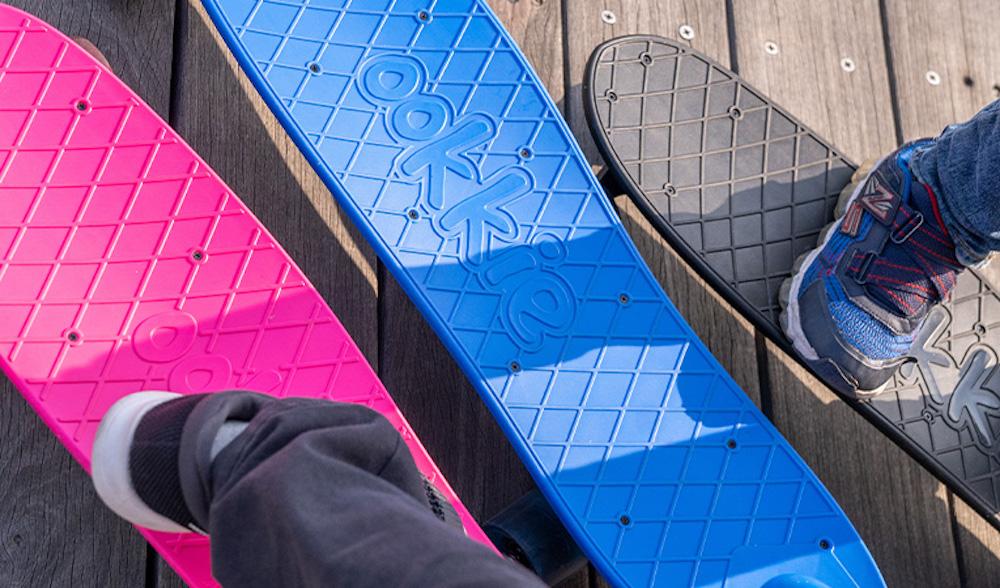 オーキー Ookkie スケボー ハンドル付きスケボー 赤ちゃん オーストラリアブランド ブラック ピンク ブルー