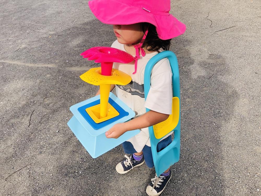 エデュテ ピラ キュート Quut 砂遊び 水遊び プール遊び お風呂遊び おもちゃ ふるい ショベル 公園 ピラミッド スコッピー トリプレット